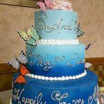 Wedding Blue Umbre