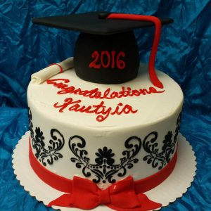 Graduation Blk-Red