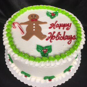 happy holidays cakes
